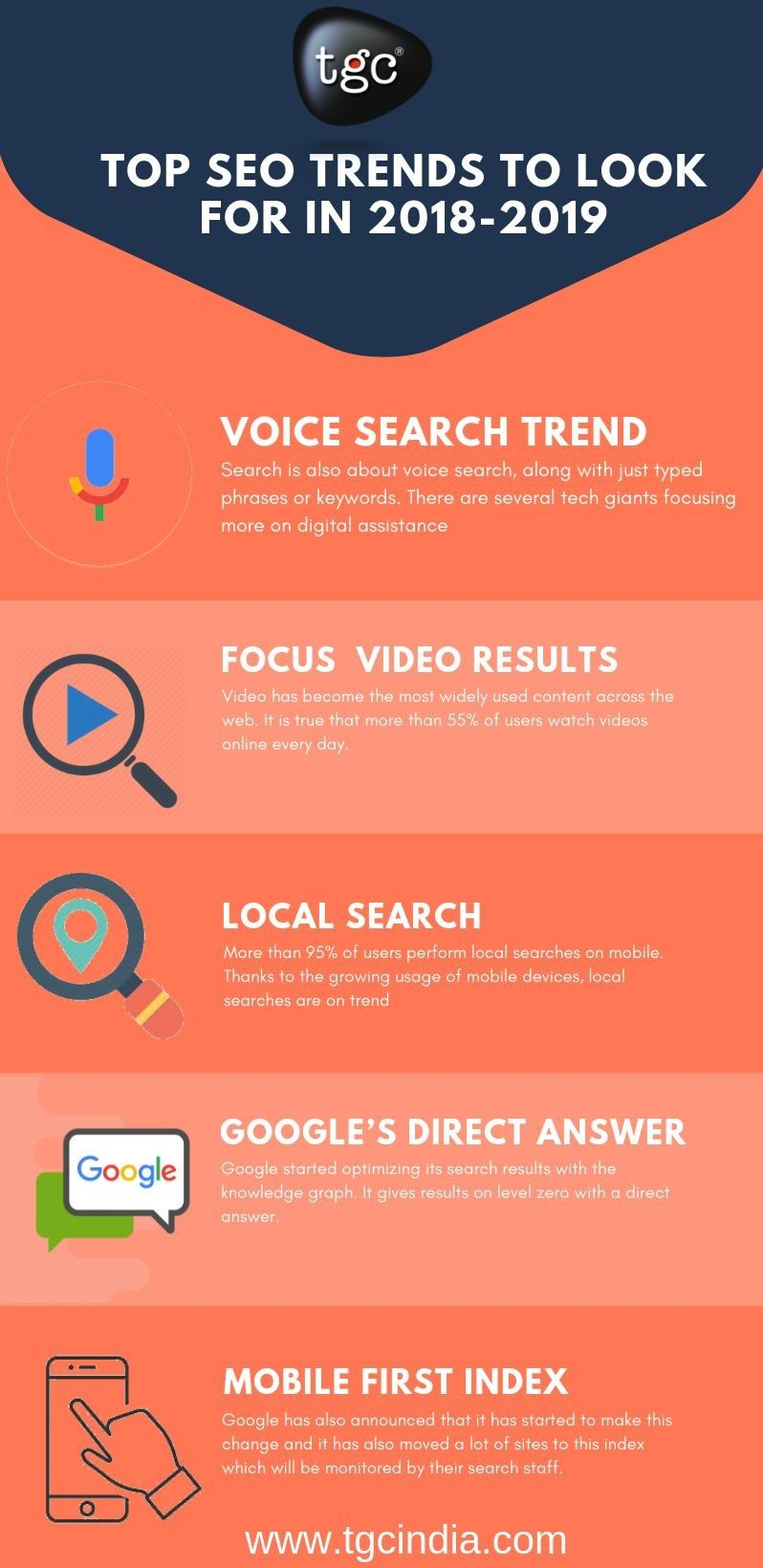 SEO Infographic for 2018-2019