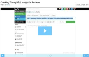 Wealthy affiliate training video